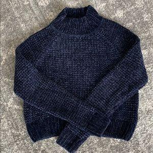 Navy blue mock neck sweater